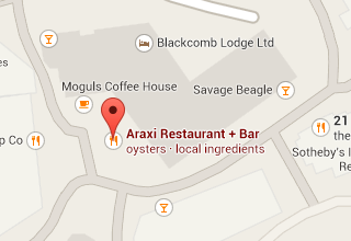 Google Maps Screen Shot of Araxi Restaurant + Oyster Bar